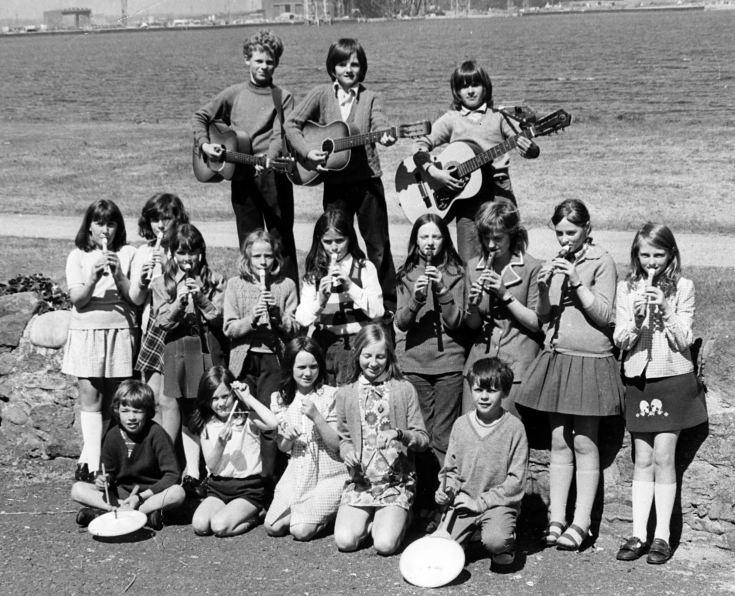 Cromarty School Band - c1974