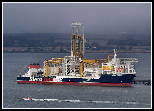 Stena Carron at the Nigg Oil Terminal