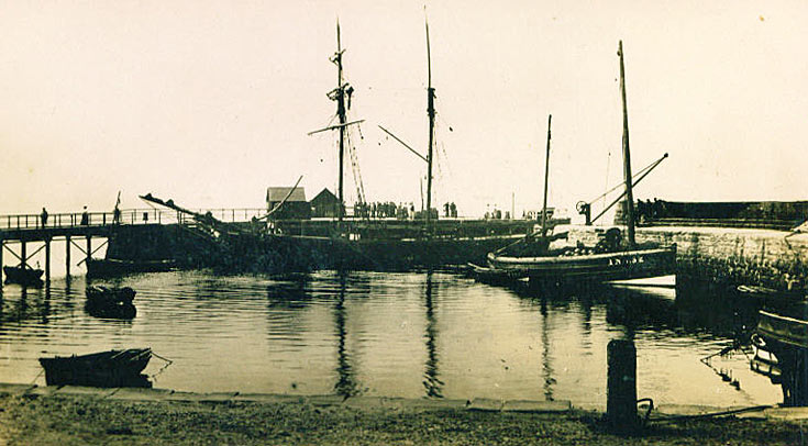 Cromarty Harbour with Sailing Ship