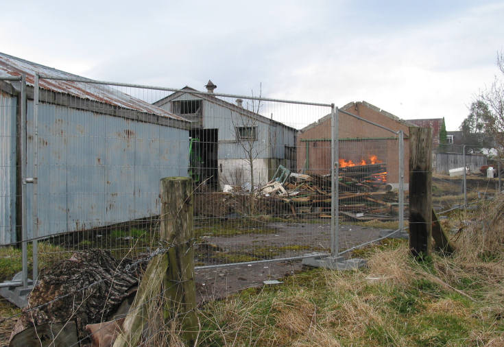 Demolition of the Dairy Buildings - 2009