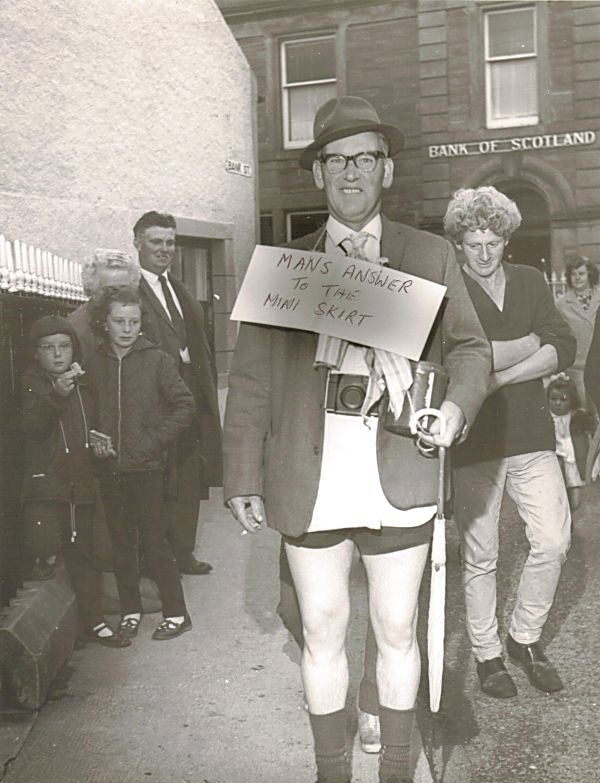Jack Mackay in fancy dress - 1968