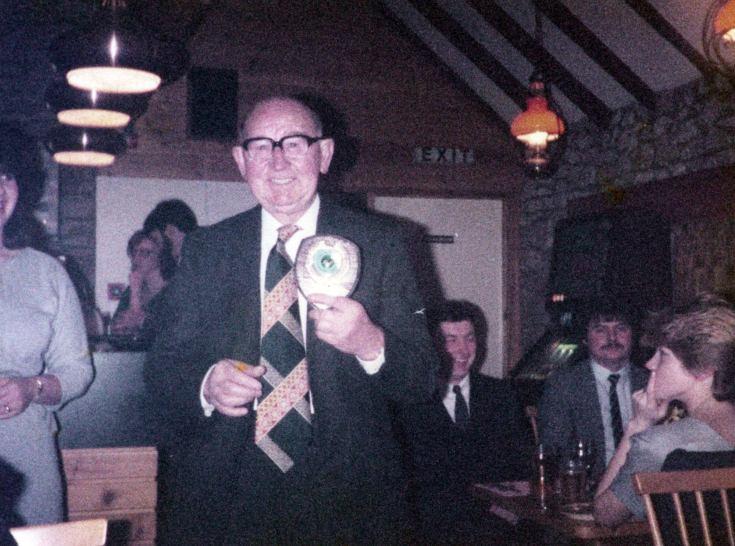 Dan Reid in the Byre - c1985