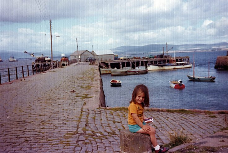 Wanda Mackay at the Harbour - c1974