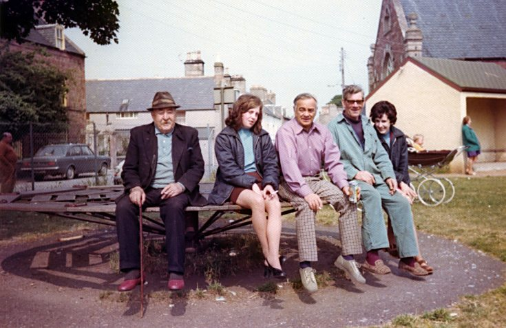 Group on the Roundabout - c1975