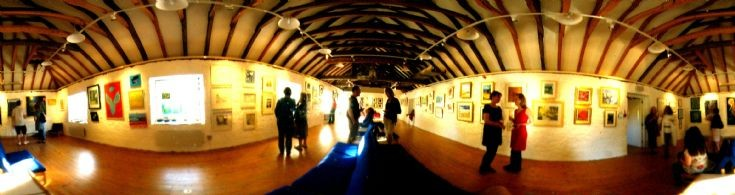 The Cromarty Arts Trust exhibition in the Stables