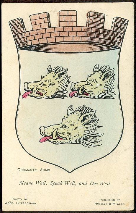 Cromarty Coat of Arms on a Postcard