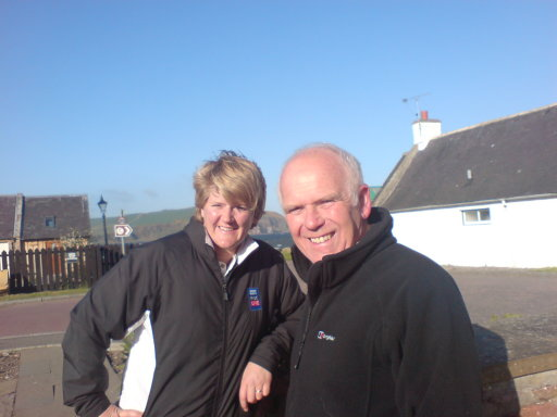 Clare Balding and Douglas Willis