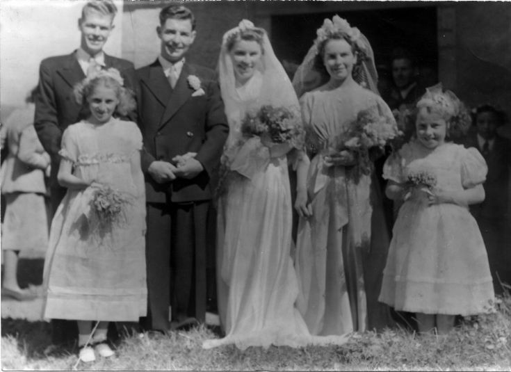 Jean and Dod McLeman's wedding 1949