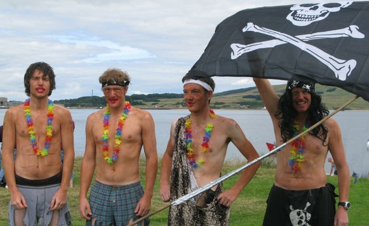 Raft race somali pirates threaten cromarty.