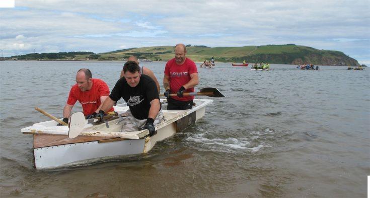 The daft raft race winners - the plumber's mates.