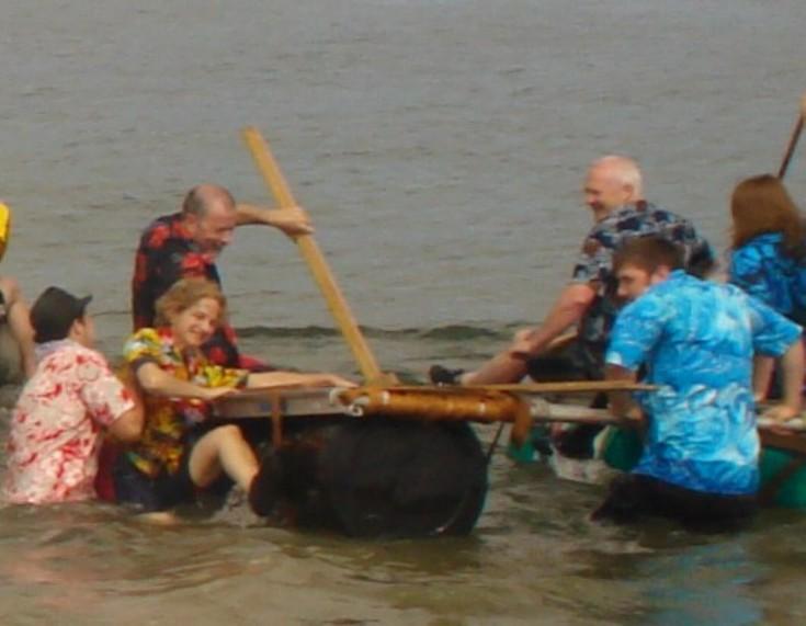 Gettin onto that raft