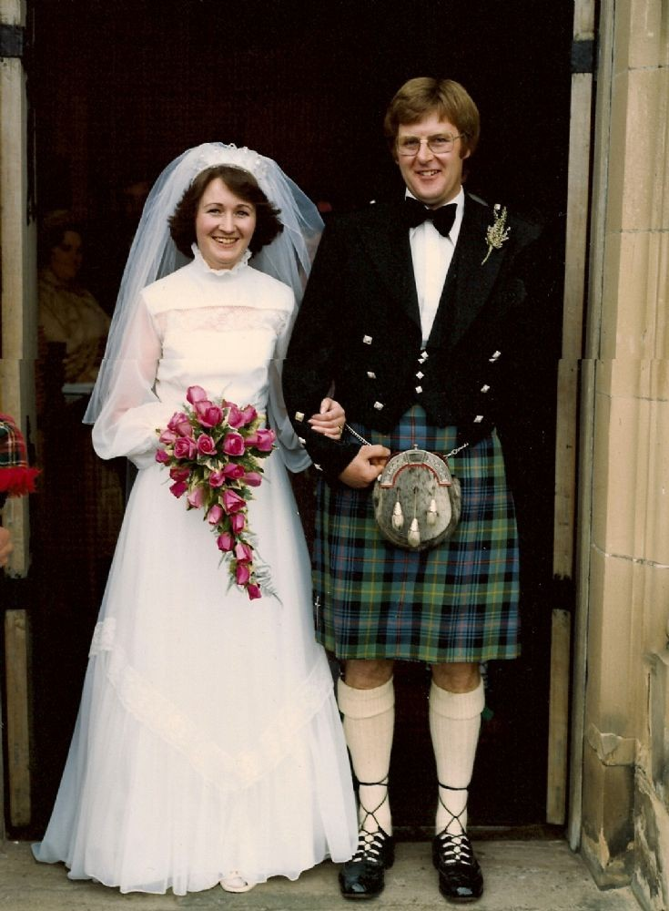 Chrissie and Robert Hogg on their wedding day - 1979