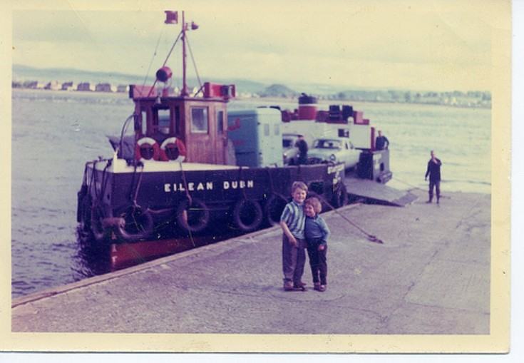 Peter and Judith Bird at Kessock Ferry.