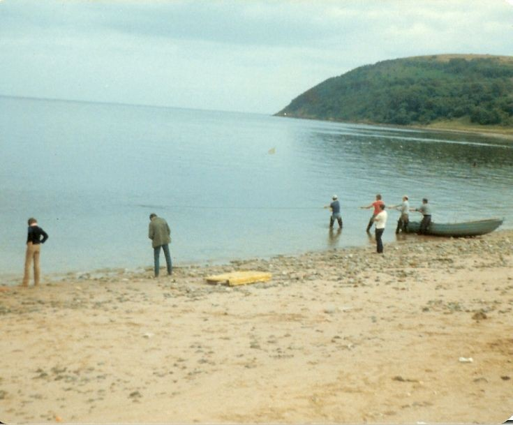 Salmon fishing by the Salmon Bothy