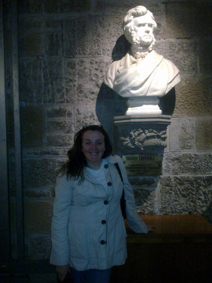 Jane Scott with Hugh Miller at the Wallace Monument.