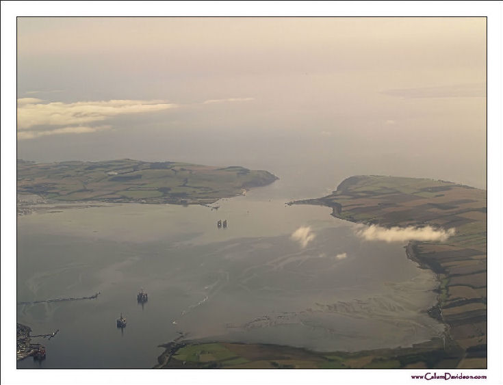 Looking East up the Firth - from the air