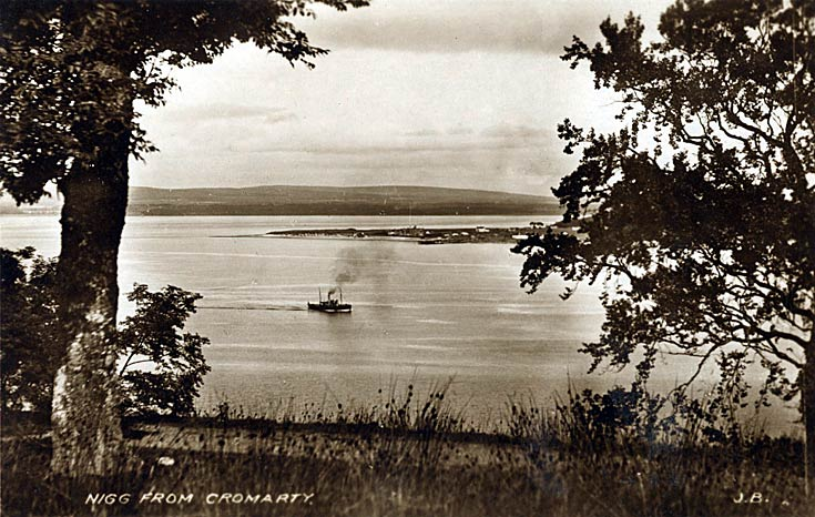 Postcard - Nigg from Cromarty, c1920