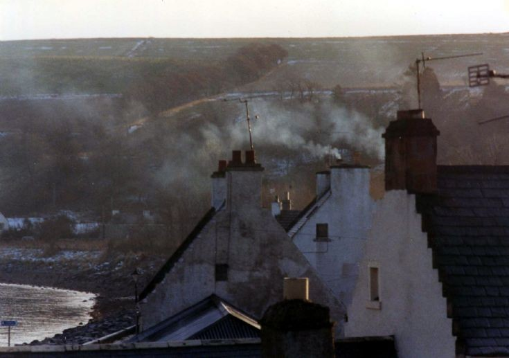 Rooftops, smoke and crowsteps, Fishertown.