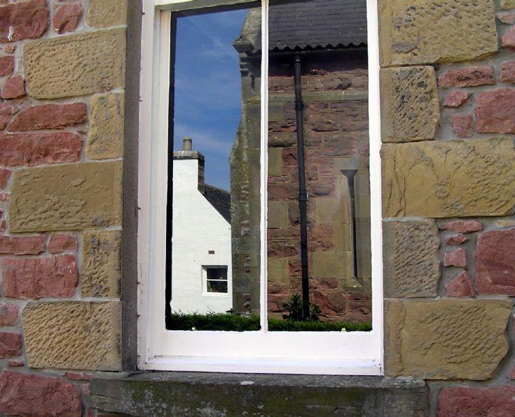 Reflections in the School window