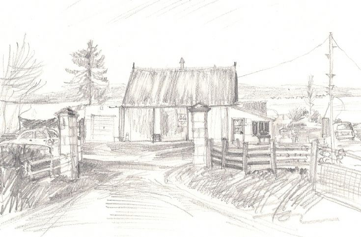 Sketch of Scott's Garage Jemimaville
