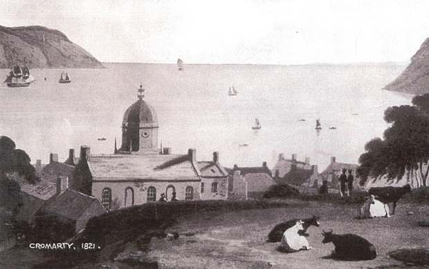 Cromarty Sutors from behind the Courthouse