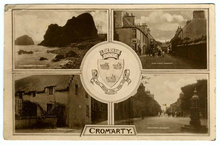 Cromarty postcard - sent in WW1