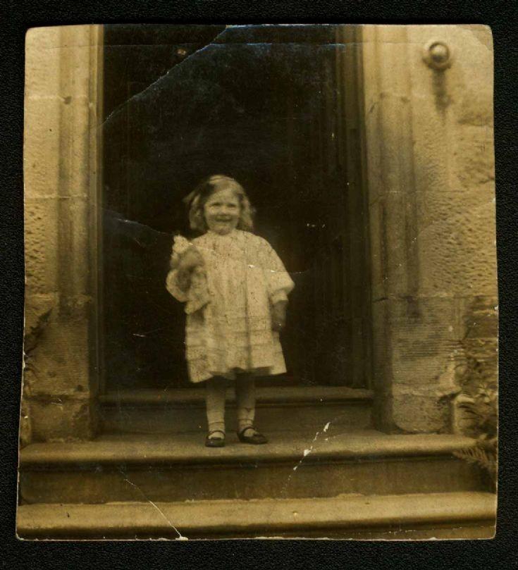 Helen MacLean on the Manse steps