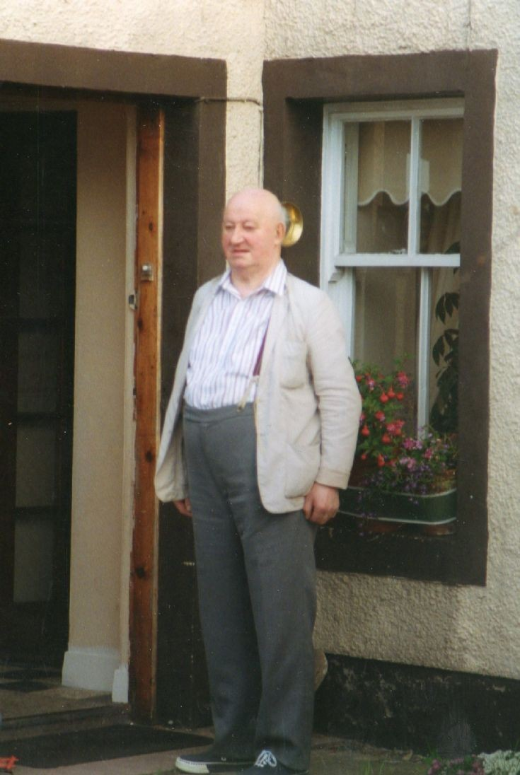 Jimmy Mallaig outside Moonfleet. c1994