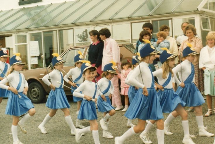 Majorettes in front of the Royal c1983?