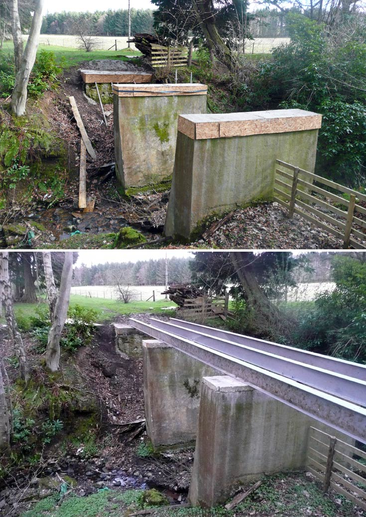Repairs to the bridge on Cromarty Estate