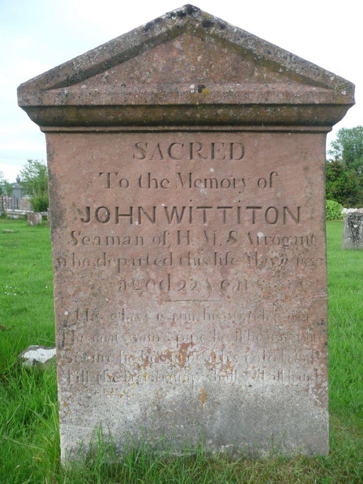 John Wittiton gravestone