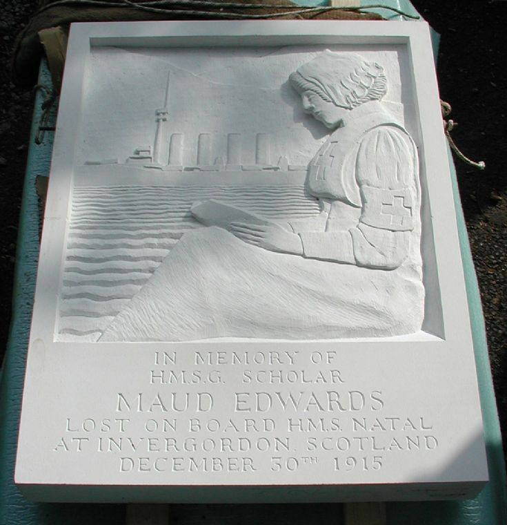 Maud Edwards - nurse who died on the Natal