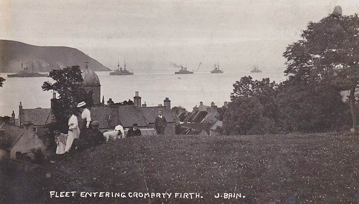Fleet entering Cromarty Firth - c1910
