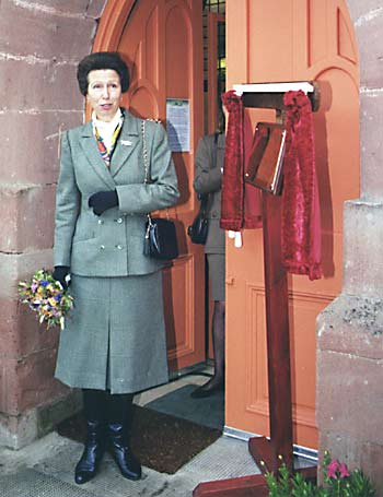 Princess Anne opening the CAYP Centre