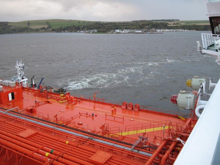 View of Cromarty from the bridge of shuttle tanker 'Petronordic'