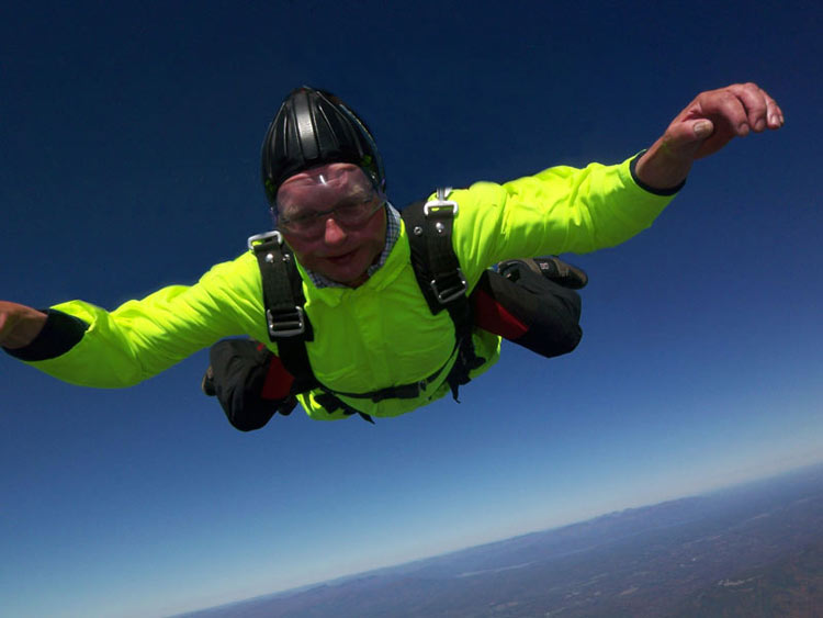 Councillor David Alston Skydiving over New York