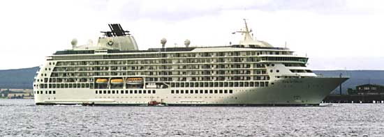 The World - Cruise liner passing Cromarty - 2002