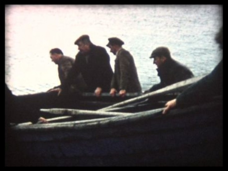 Still from 1959 Salmon Fishing cine film
