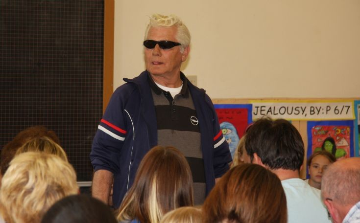 Dougie McPhee at Cromarty Primary School in June 2010.