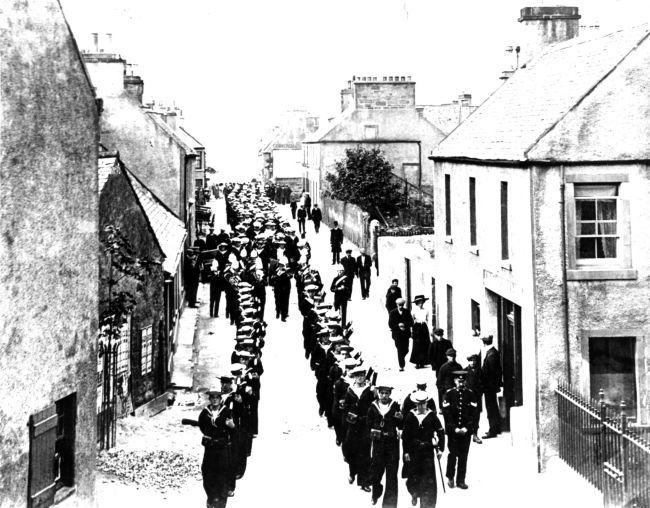 Sailor's Funeral on Bank St - c1910