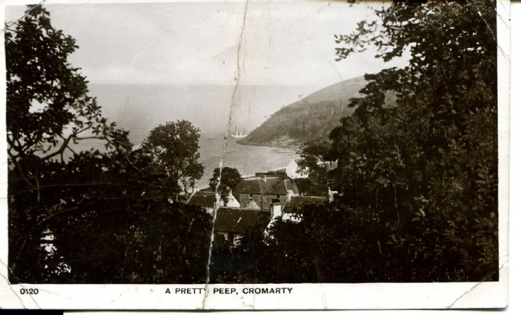 A Pretty Peep, Cromarty - postcard