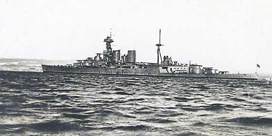 HMS Hood off Cromarty - c1920