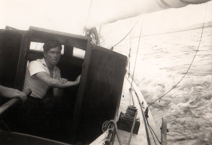 John Jack on Major Brooks' Yacht