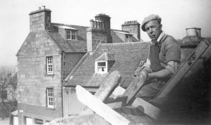 Roof repairs on Suncourt c1950