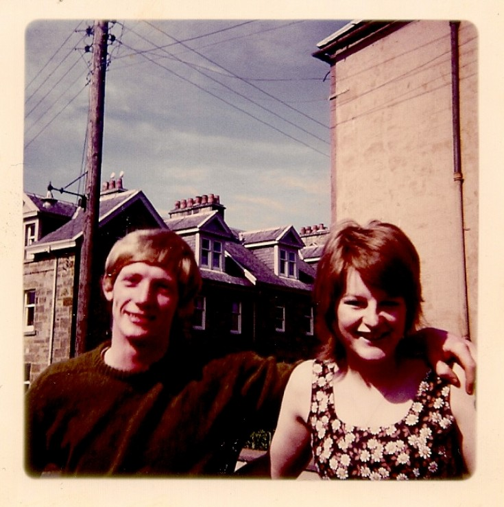 Ewen and Rhona Garratt, 1970 in George Street