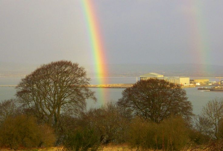 Rainbows over Nigg