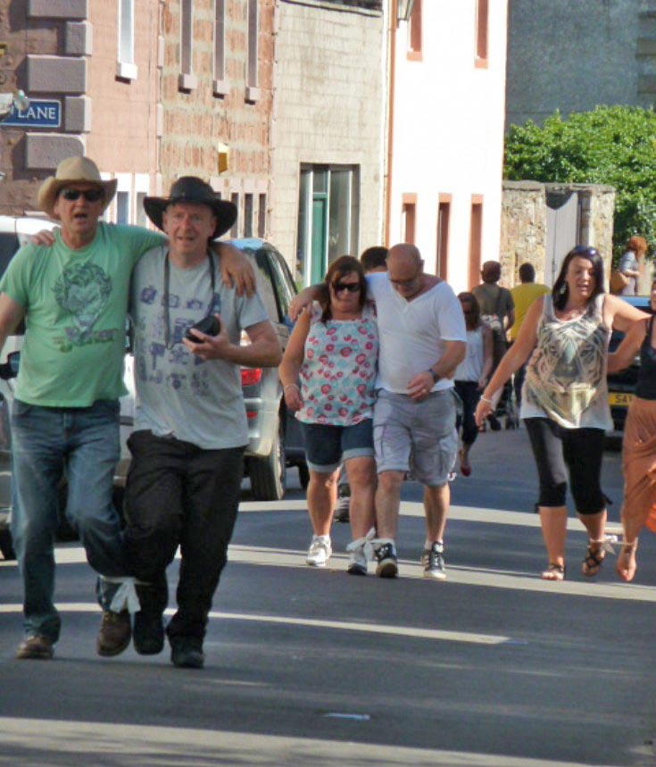 The Three-legged Beer Race, Cromarty Gala Day 11 June 2012