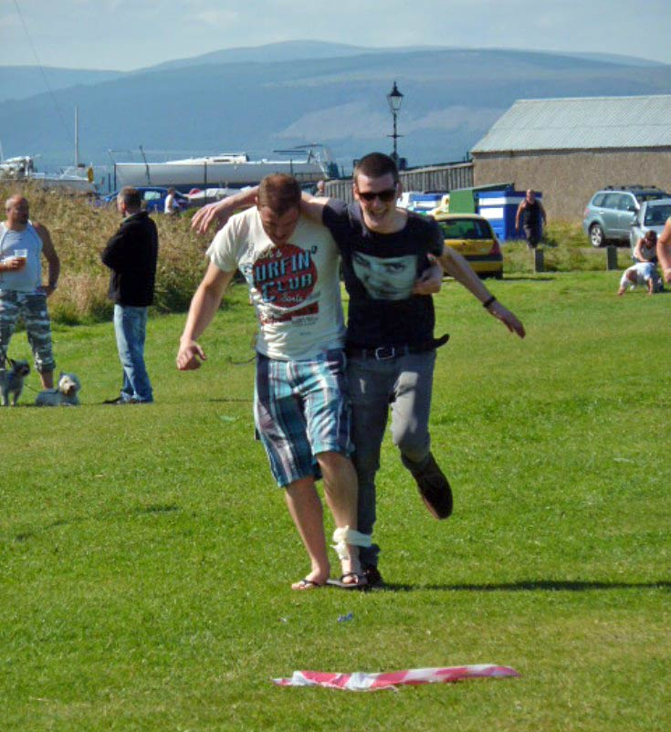 End of the Three Legged Beer Race, Cromart Gala Day 11 August 2012