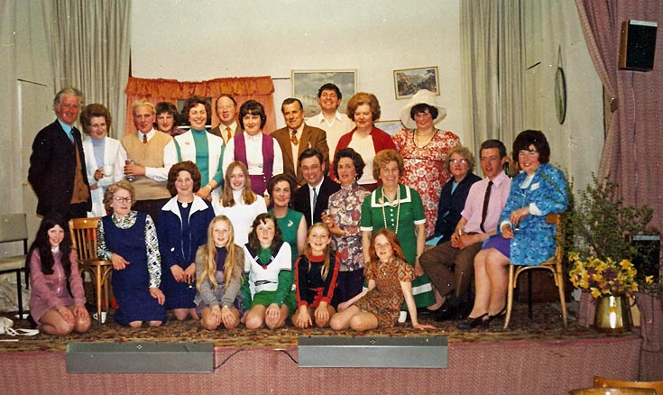 Cromarty Amateur Dramatic Club on stage in the Victoria Hall