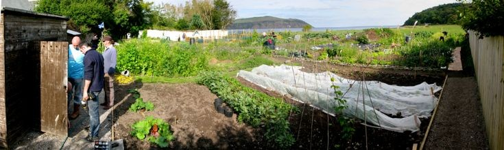 The Cromarty Allotments shed goes up.